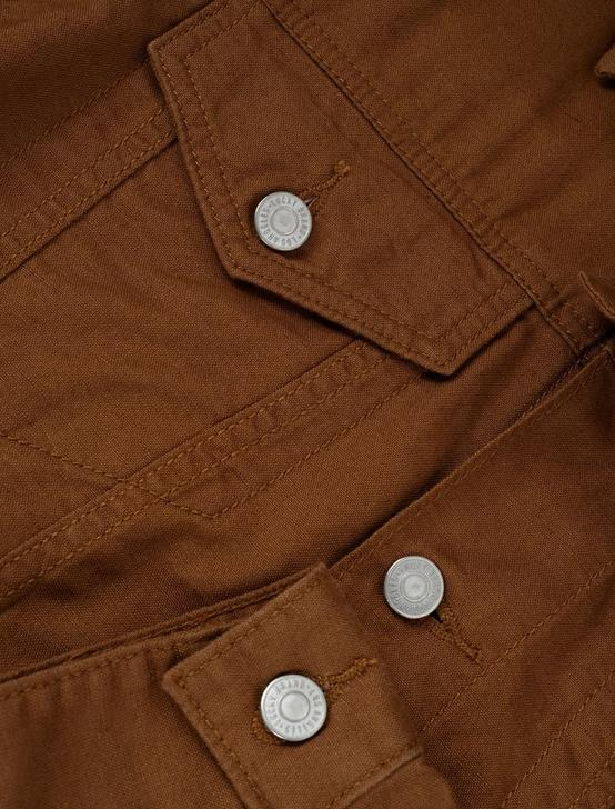 LINEN BLEND TRUCKER, COPPER BROWN, productTileDesktop