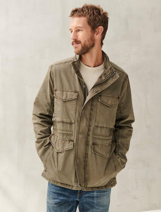 COTTON NYLON M65 JACKET, OLIVE NIGHT, productTileDesktop