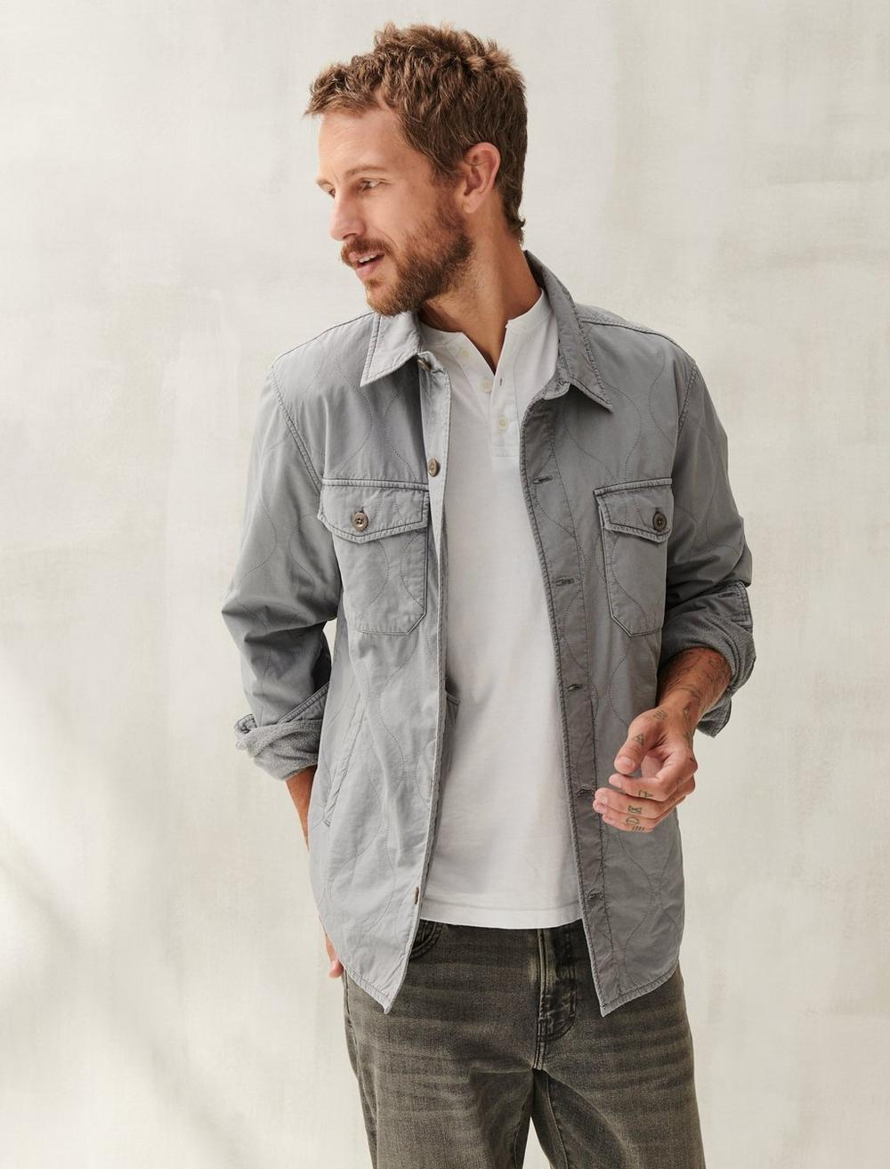 QUILTED SHIRT JACKET, image 1