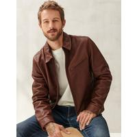 Deals on Lucky Brand Mens Aviator Leather Jacket