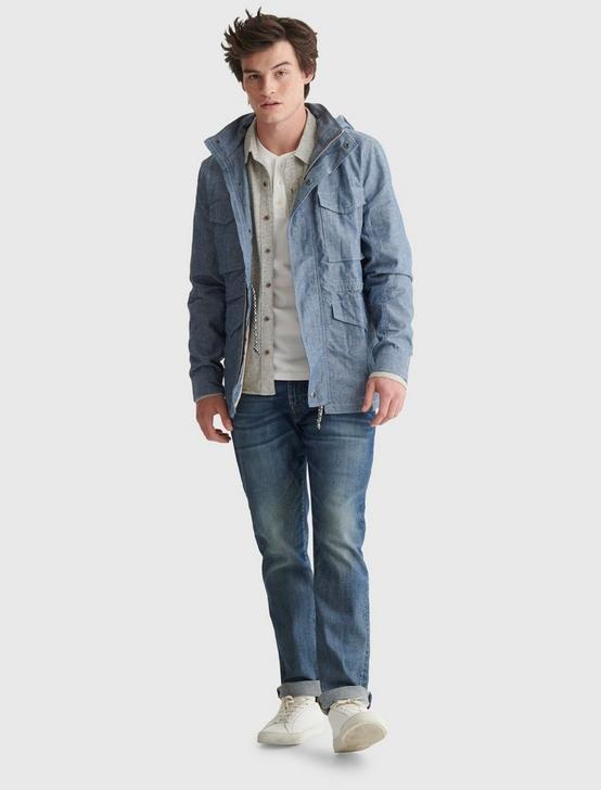 CHAMBRAY M65 JACKET, INDIGO MULTI, productTileDesktop