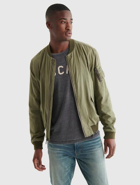 LIGHTWEIGHT MA-1 BOMBER JACKET, DEEP LICHEN GREEN, productTileDesktop