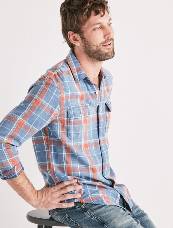 AXE INDIGO SHIRT, SALMON, productTileDesktop
