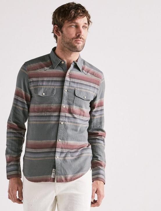 SANTA CRUZ WESTERN SHIRT, MULTI STRIPE, productTileDesktop