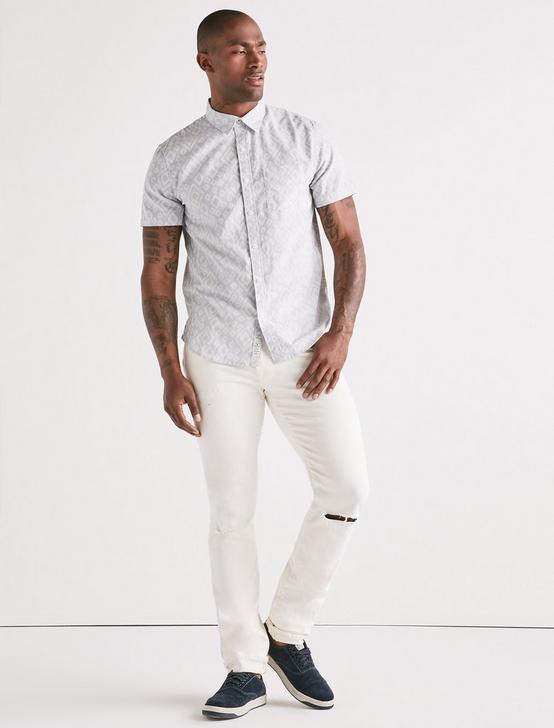 Aztec One Pocket Shirt, BLUE/WHITE, productTileDesktop