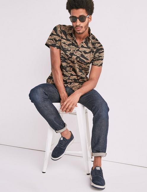 Seersucker Camo Workwear Shirt,