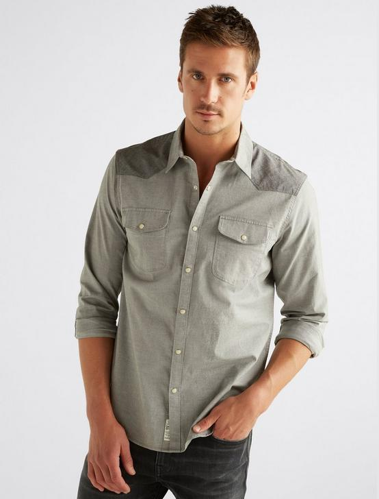 OXFORD WESTERN SHIRT, GREY MULTI, productTileDesktop
