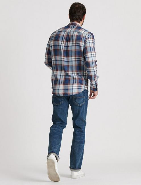 INDIGO CAMP TWILL SHIRT, INDIGO / ORANGE