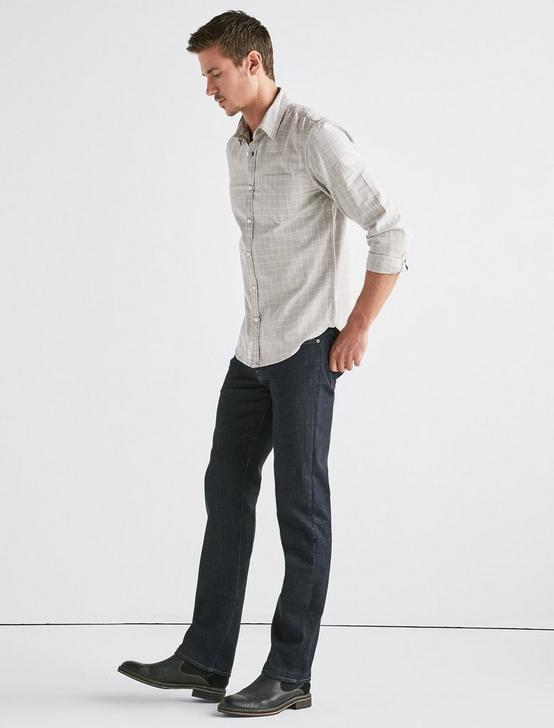 STRETCH OXFORD 1 POCKET SHIRT, HEATHER GREY, productTileDesktop
