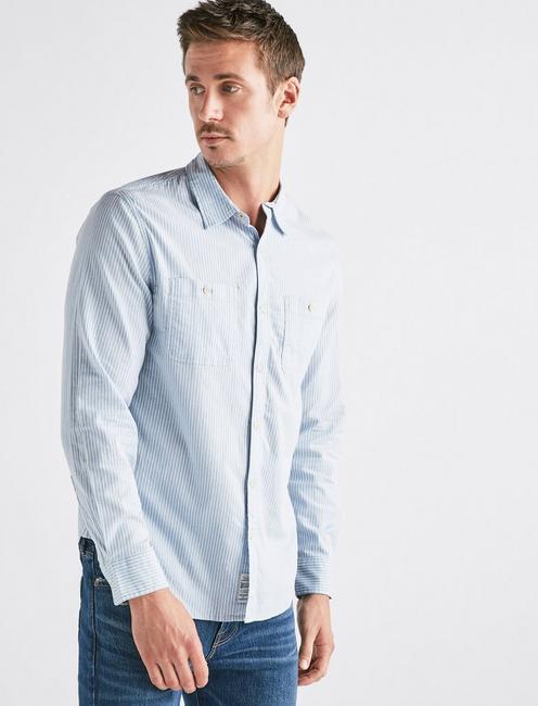 Pinstripe Mason Workwear Shirt,