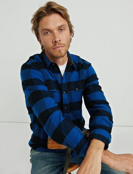 Two Pocket Workwear Shirt, BLUE MULTI, productTileDesktop