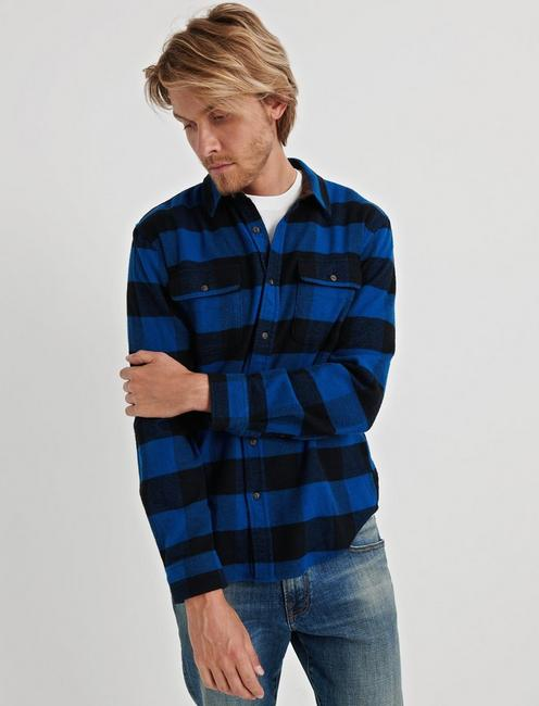 Two Pocket Workwear Shirt, BLUE MULTI