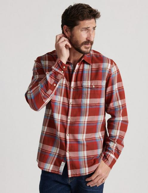 ALAMEDA WESTERN SHIRT, RED PLAID