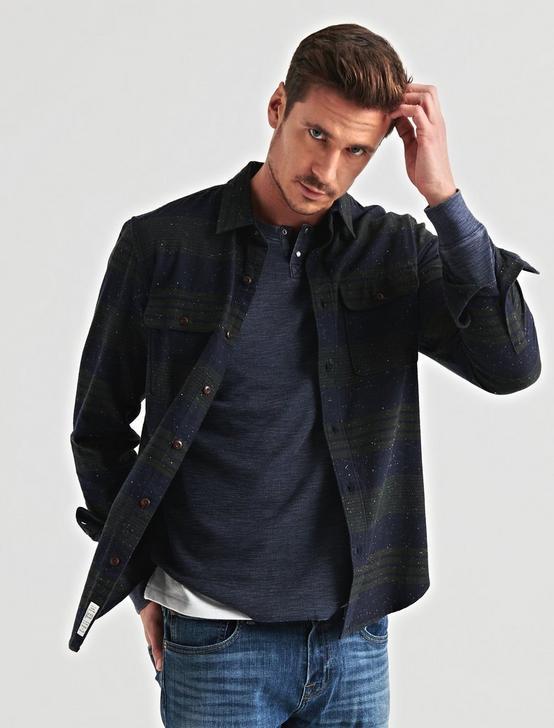 Two Pocket Workwear Shirt, GREEN/BLUE, productTileDesktop