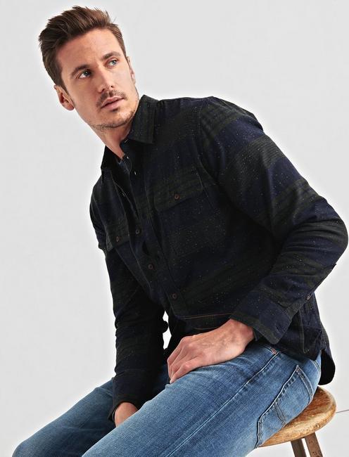 Two Pocket Workwear Shirt, GREEN/BLUE