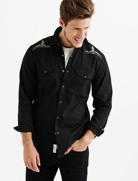 SANTA FE WESTERN SHIRT, #001 BLACK, productTileDesktop