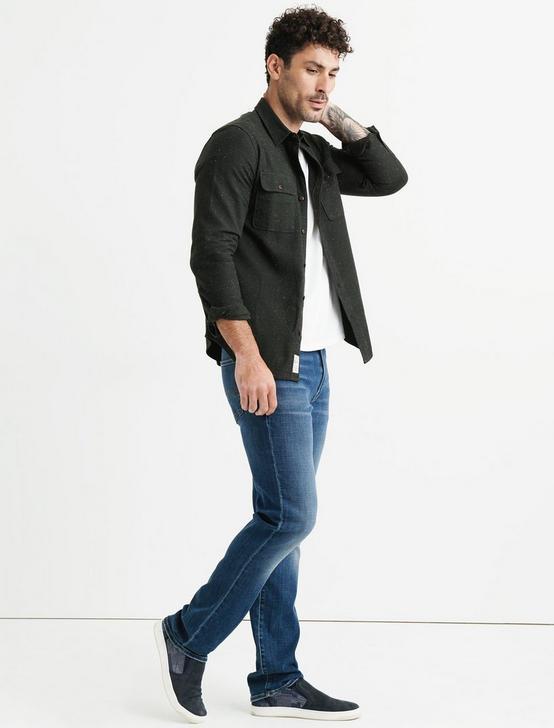 Long Sleeve Two Pocket Workwear Shirt, 915 GREEN, productTileDesktop