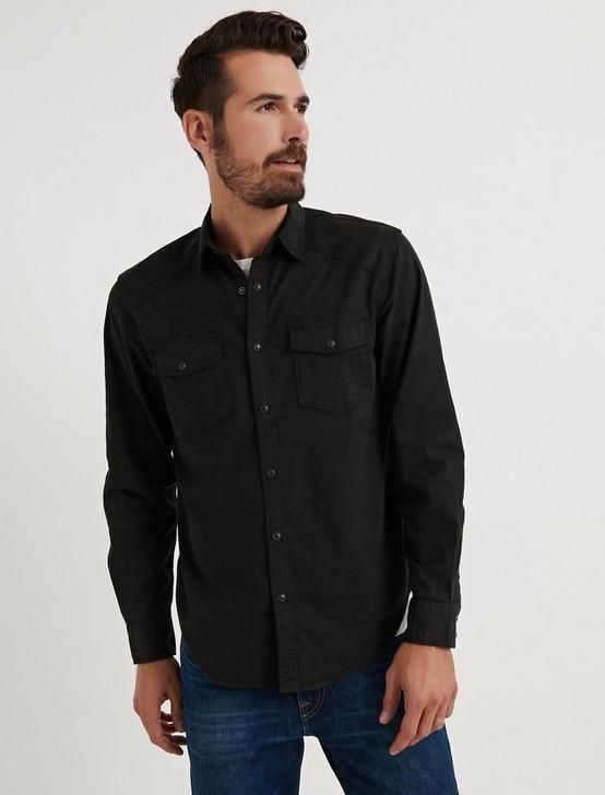 ALAMEDA WESTERN SHIRT, WASHED BLACK, productTileDesktop