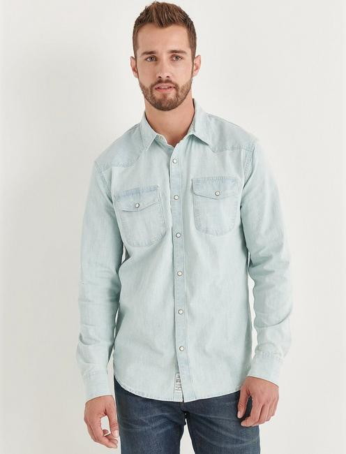 SANTA FE STRETCH CHAMBRAY WESTERN SHIRT,