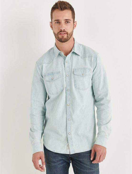 Santa Fe Stretch Chambray Western Shirt