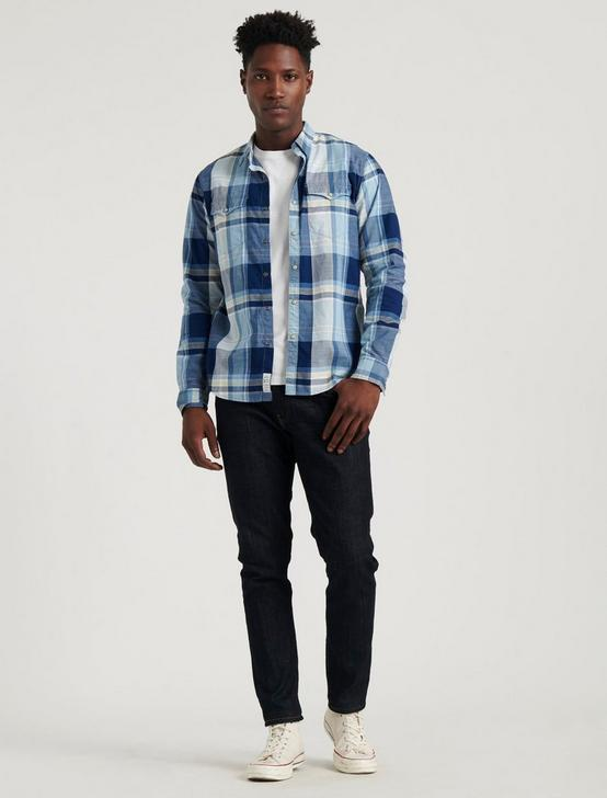 ALAMEDA WESTERN SHIRT, BLUE PLAID, productTileDesktop
