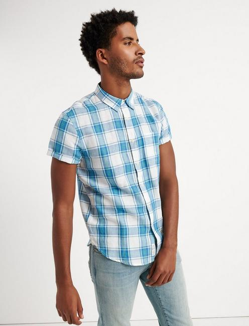 Diego Plaid Linen Shirt