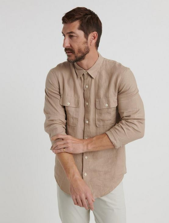 HAVANA LINEN  SHIRT, WHEAT FIELD, productTileDesktop
