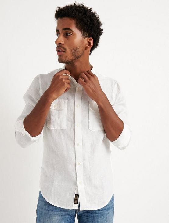 HAVANA LINEN  SHIRT, WHITE, productTileDesktop