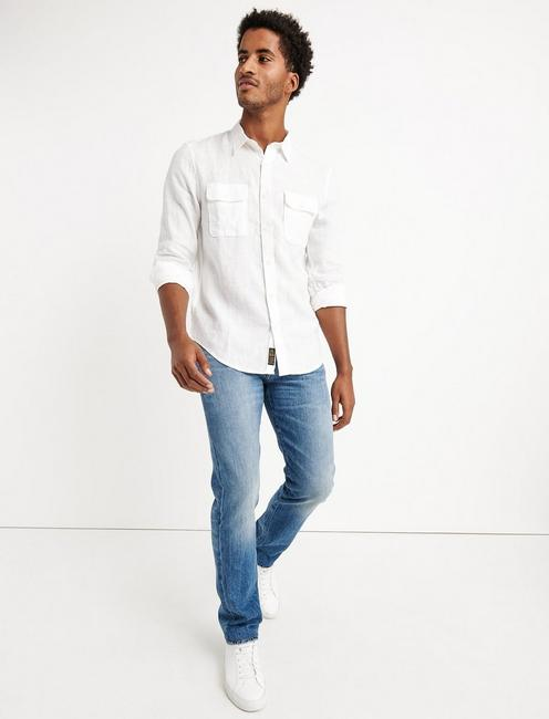 HAVANA LINEN  SHIRT, WHITE