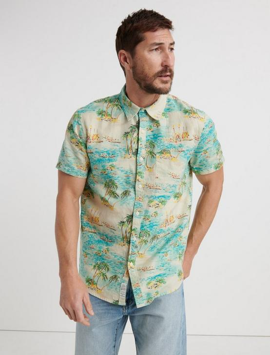TROPICAL ONE POCKET SHIRT, MULTI, productTileDesktop