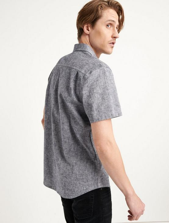 SATURDAY STRETCH LINEN CHAMBRAY WORK SHIRT, CHAMBRAY, productTileDesktop