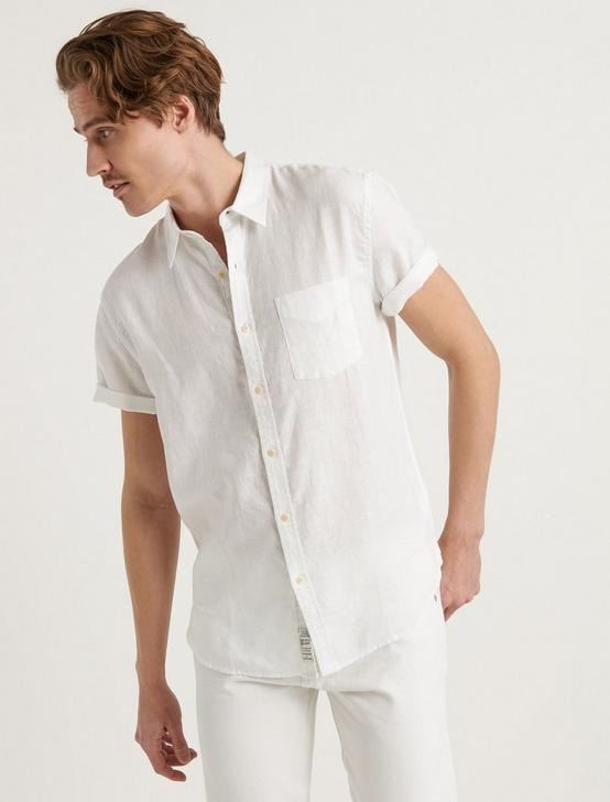 LAGUNA LINEN SHIRT, WHITE, productTileDesktop