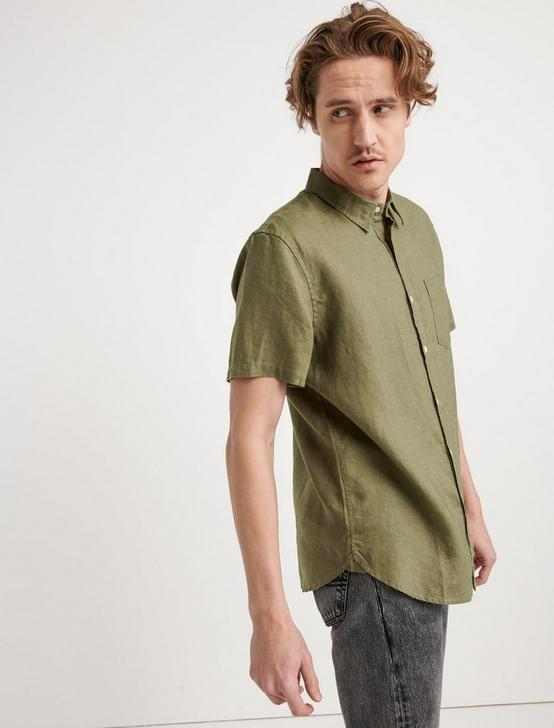 LAGUNA LINEN SHIRT, 915 GREEN, productTileDesktop