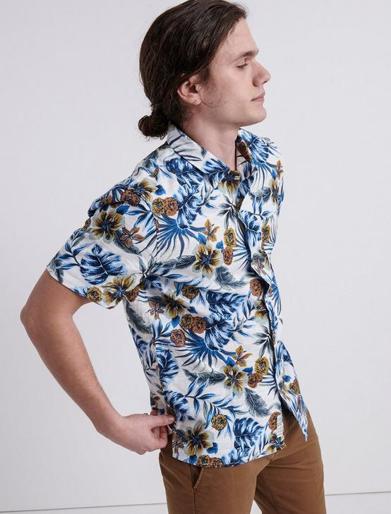 AZURE FLORAL CLUB COLLAR SHIRT, BLUE PRINT, productTileDesktop