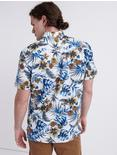 AZURE FLORAL CLUB COLLAR SHIRT, BLUE PRINT