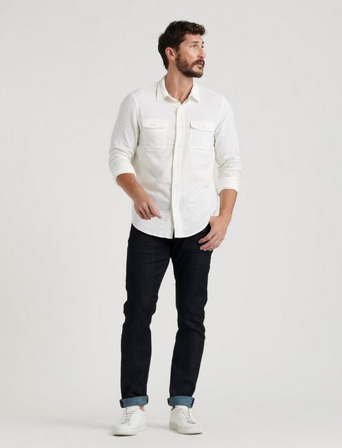 DOUBLE WEAVE SHIRT, WHITE