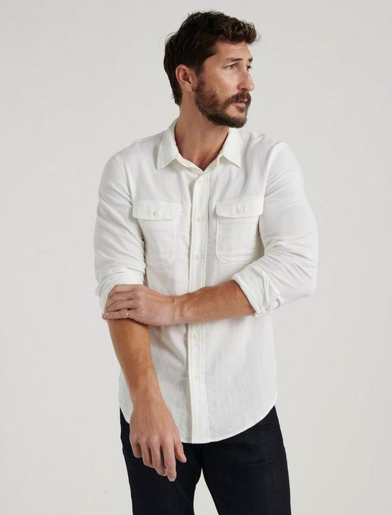 DOUBLE WEAVE SHIRT, WHITE, productTileDesktop