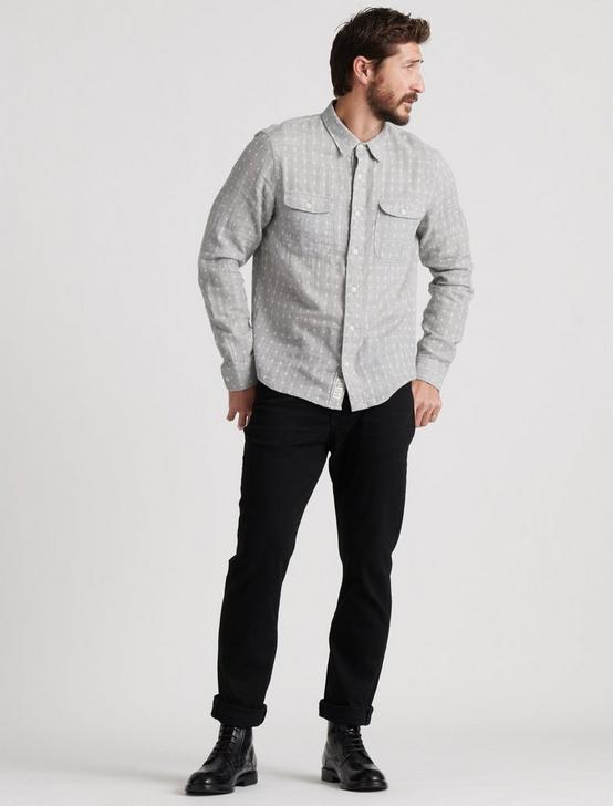 HEATHER DOUBLEWEAVE SHIRT, GREY/NATURAL, productTileDesktop