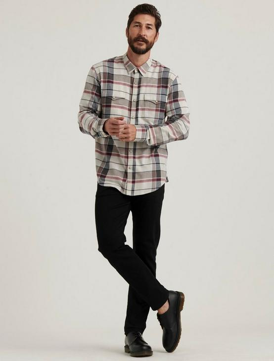 SATURDAY STRETCH WESTERN SHIRT, NATURAL/BLUE/BURG, productTileDesktop