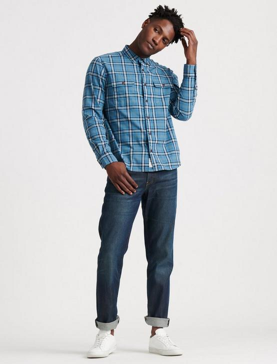 SATURDAY STRETCH WORKWEAR SHIRT, BLUE PLAID, productTileDesktop