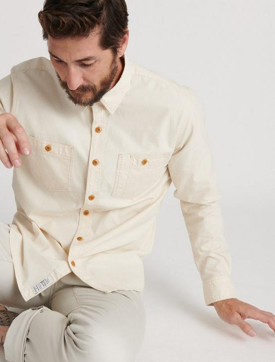 CHAMBRAY WORK SHIRT, NATURAL, productTileDesktop