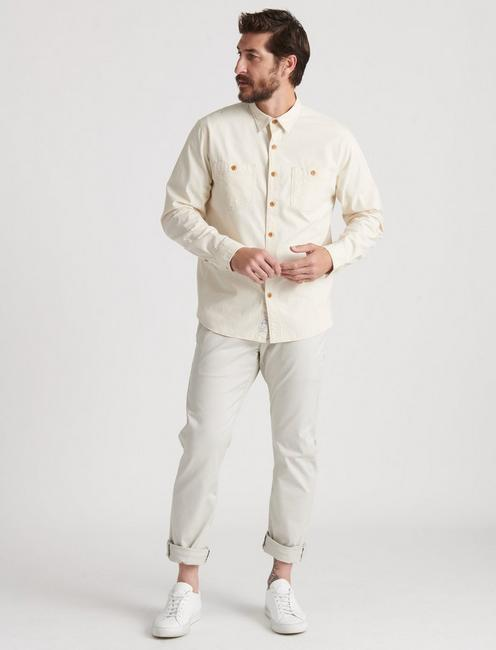 CHAMBRAY WORK SHIRT, NATURAL