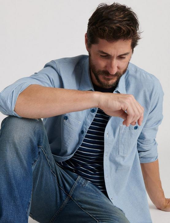 THE CHAMBRAY WORK SHIRT, CHAMBRAY BLUE, productTileDesktop