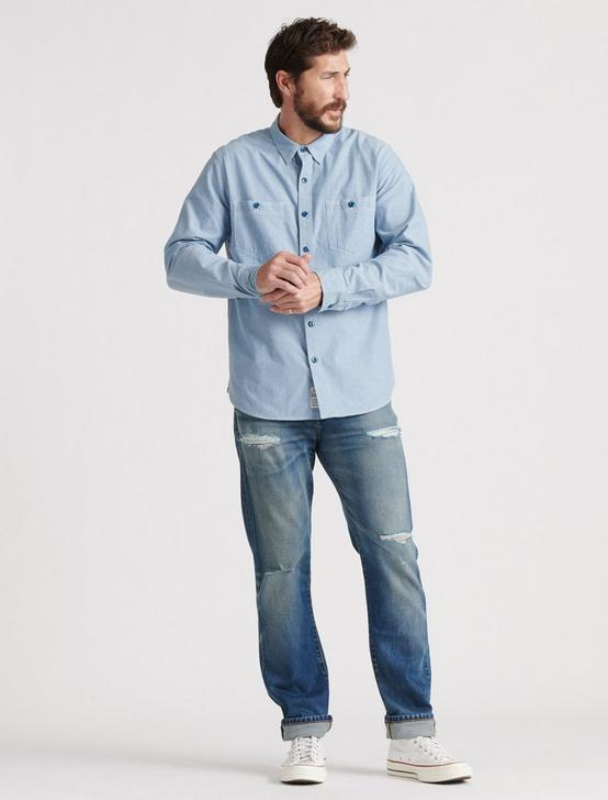 CHAMBRAY WORK SHIRT, CHAMBRAY BLUE, productTileDesktop