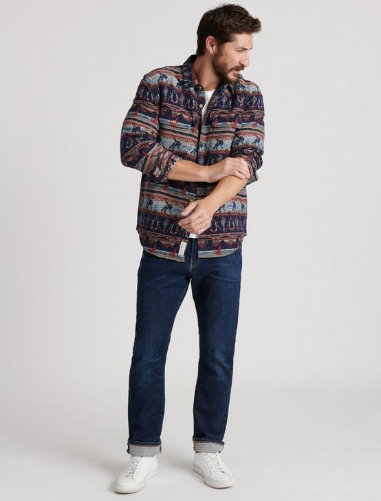 GALLUP JACQUARD OVERSHIRT, MULTI, productTileDesktop