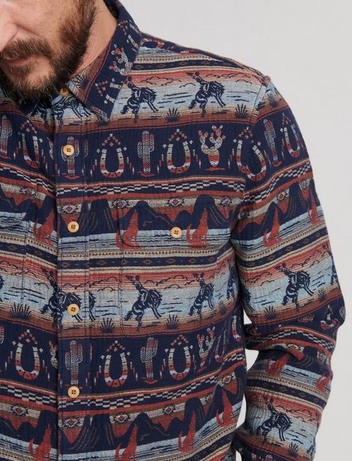 GALLUP JACQUARD OVERSHIRT, MULTI