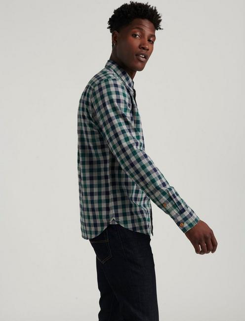 BALLONA PLAID SHIRT, BLUE/GREEN
