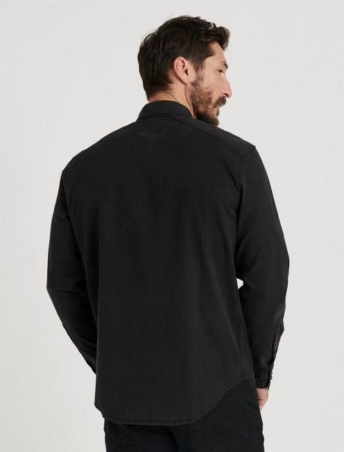 MARTIN WESTERN SHIRT, WASHED BLACK