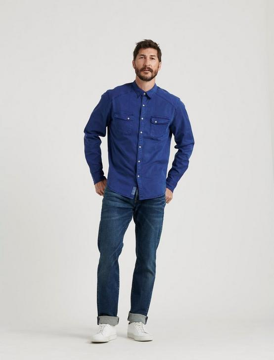 TENCEL MARTIN WESTERN SHIRT, #458 BLUE, productTileDesktop