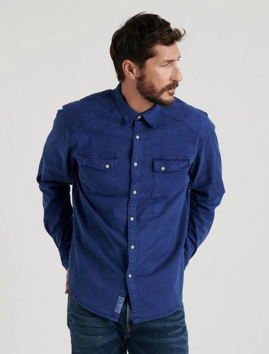 TENCEL MARTIN WESTERN SHIRT, #458 BLUE, productTileDesktop